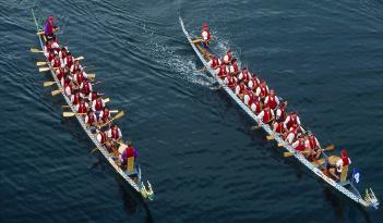 Drachenboot-Rennen in Hagen